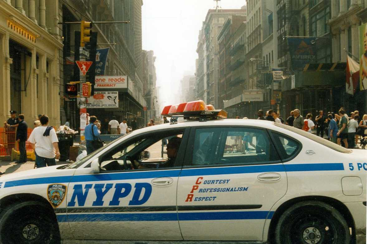 At approximately 9 a.m. September 11, 2001 Ground Zero is barricaded for three-mile radius from civilians. By the next morning the borders had extended even further.