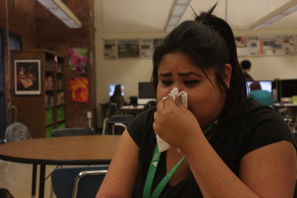 Yvette Zavala is one among many students currently suffering from viruses spreading through the school.