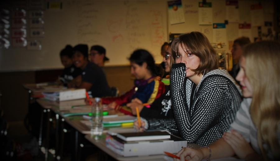 A student feels anxious over the work load as the class prepares for upcoming tests and projects for mid-term grades.
