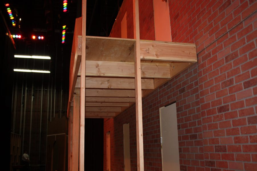 The students in Taylorsville's theater department work hard to make the set for this year's musical, Kiss Me, Kate.