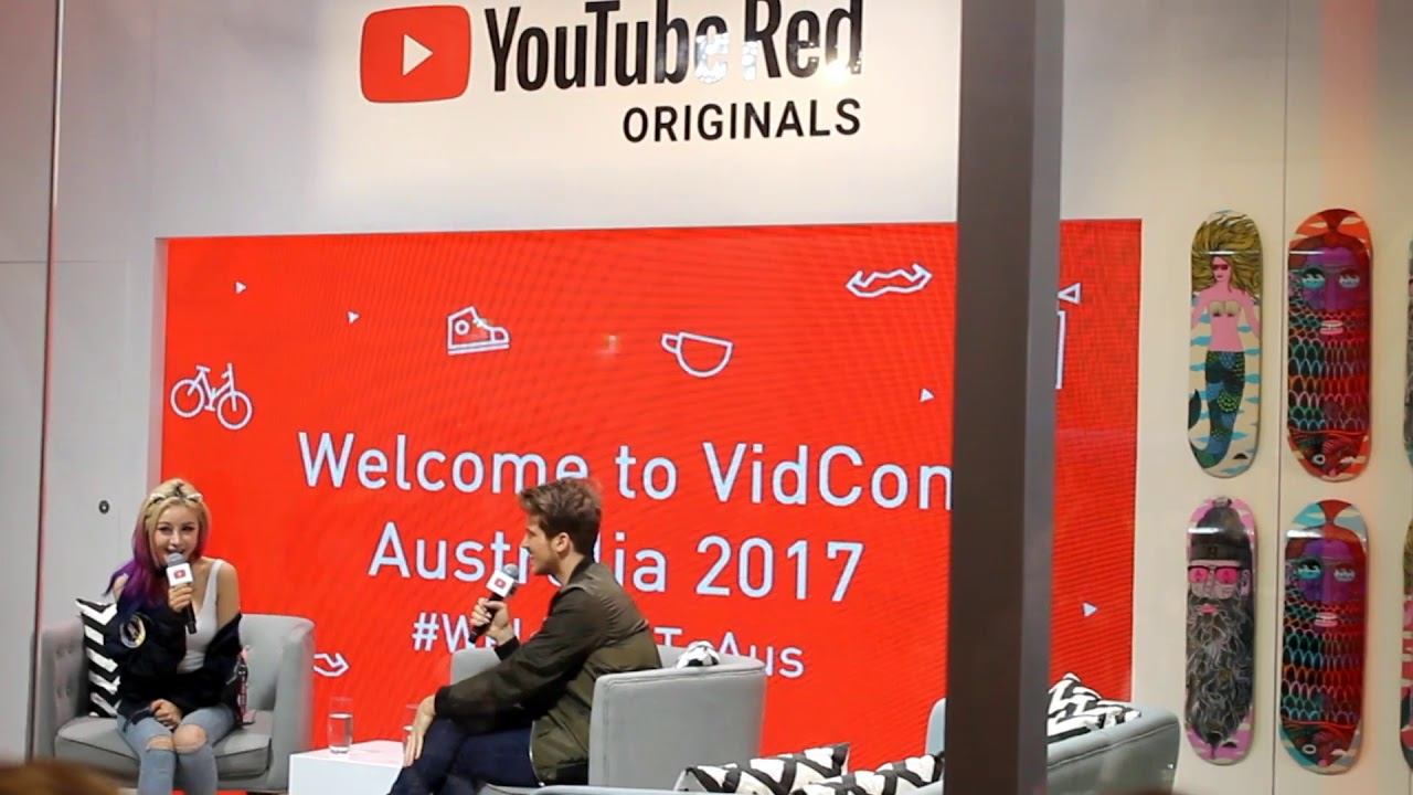 Photo Courtesy of Creative Commons Joey Graceffa's interview in the Red Cubicle at the annual Vidcon in Australia in 2017 about his show