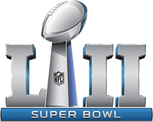 The official logo for Super Bowl fifty-two which took place at the U.S. Bank stadium in Minneapolis, home of the Vikings.