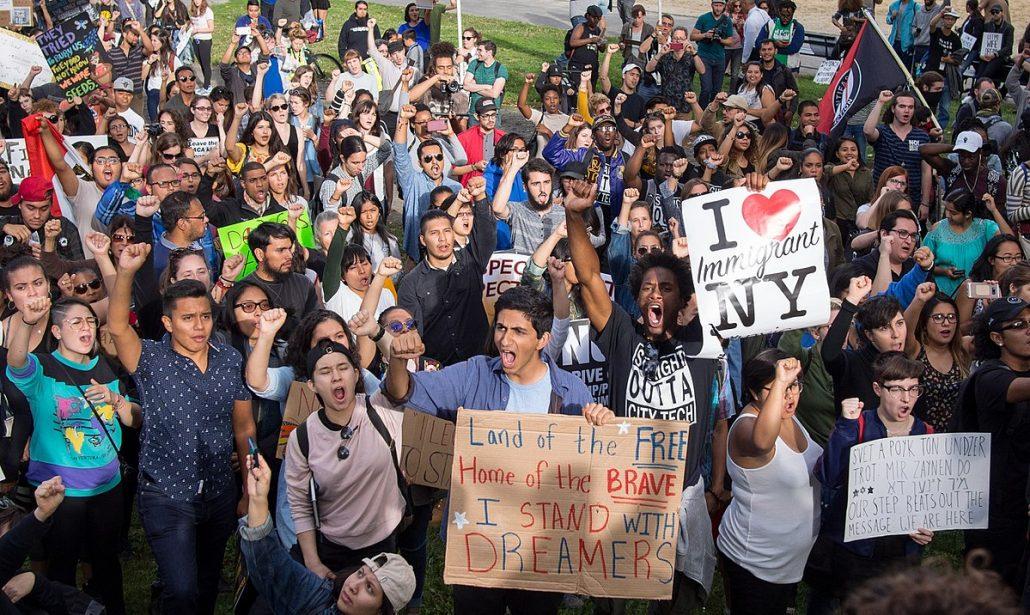 Marcha en respuesta a la cancelacion del programa DACA en la ciudad de Nueva York, el 9 de septiembre del 2017