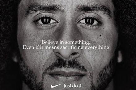 Colin Kaepernick's recent ad with Nike.