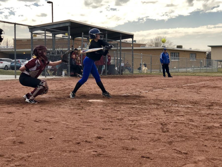 Taylorsville High's Softball team batting at the game against Jordan