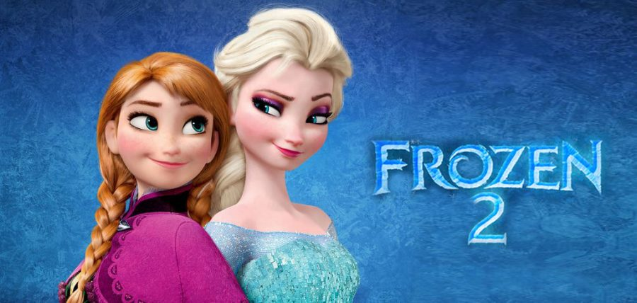 Sisters, Princess Ana and Queen Elsa, facing back to back in order to show their relationship with Frozen 2 on the side.