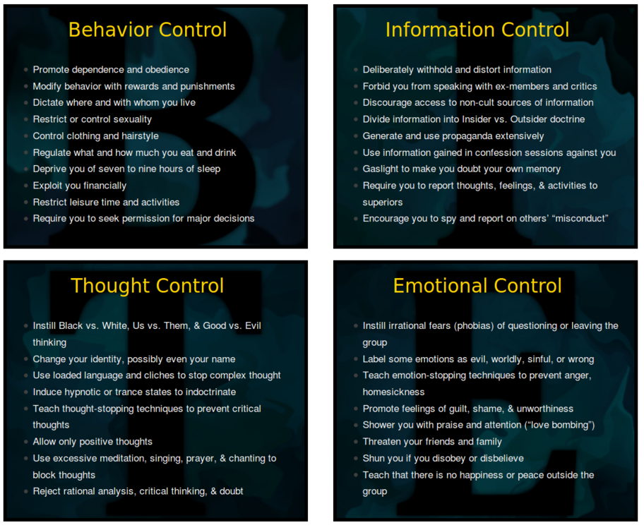 Infographic of the BITE model and what the model entails.