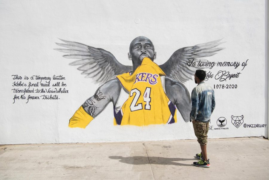 Temporary moral of basketball player Kobe Bryant who passed away on January 26, 2020