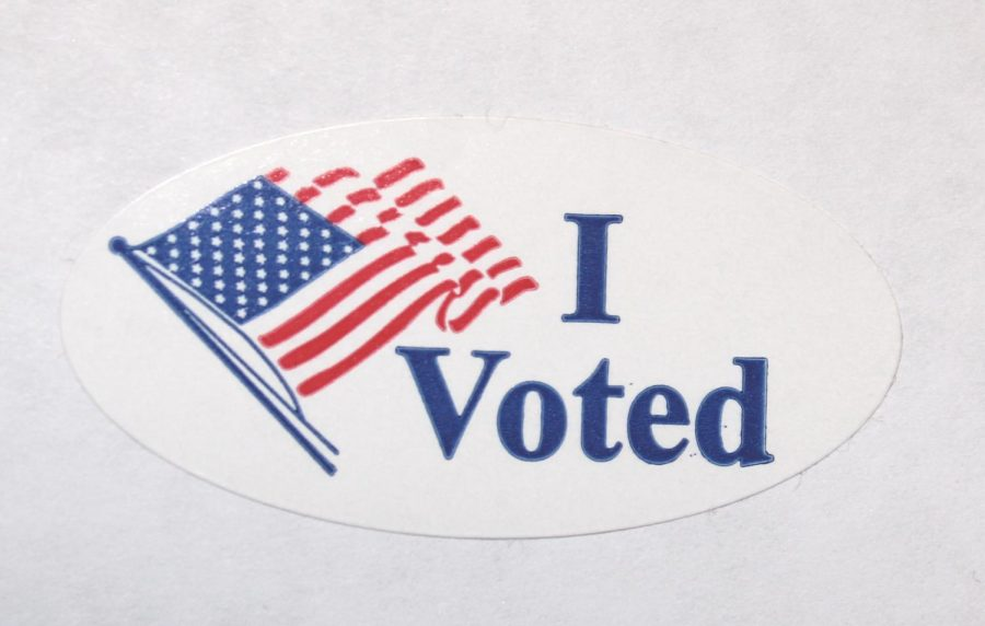 I Voted sticker resembling the 2020 November Elections which had more votes than any other U.S. Election.