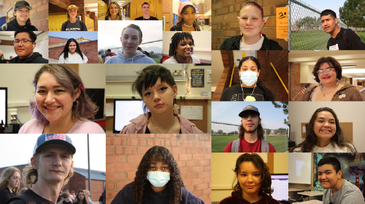 The different faces of students at Taylorsville High